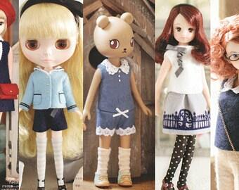 Sewing pattern lot for Blythe, Momoko, Odeco, Nikki, Pullip & Middie Blythe