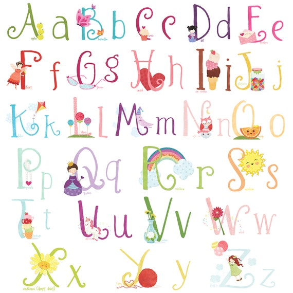 lil cloud cute girly wall decal stickers alphabet for by