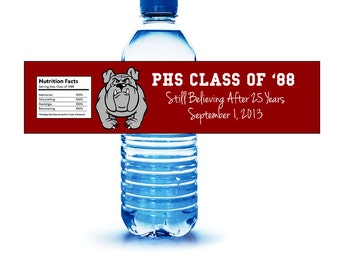 Class or Family Reunion Water Bottle Label CUSTOM DESIGN Printable Download