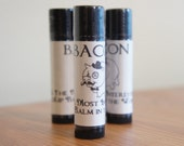 BACON Beeswax NATURAL Lip Balm Homemade MANLY -The Most Interesting Lip Balm in the World. Sale, bogo!
