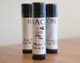 BACON NATURAL Beeswax Lip Balm! Homemade. MANLY -The Most Interesting Lip Balm in the World. Mens Valentine's Gift