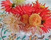 Fiesta Bouquet photo card, Dahlia Fiesta photo card, Autumn colors photo card, Autumn colors Dahlia photo card