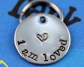 SMALL Dog or Cat Tag - Nickel Silver Custom Pet Tag - Hand-Stamped Dog or Cat ID Tag