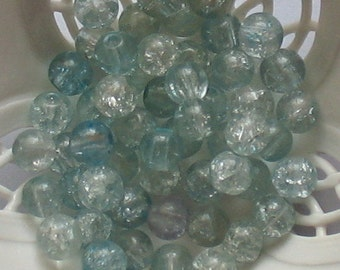 Beads Turquoise Azure 5mm (30 pcs) pellucid translucent