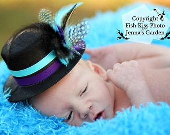 BOY'S Mini Top Hat, Boy's Photo PROP, Newborn mini top hat