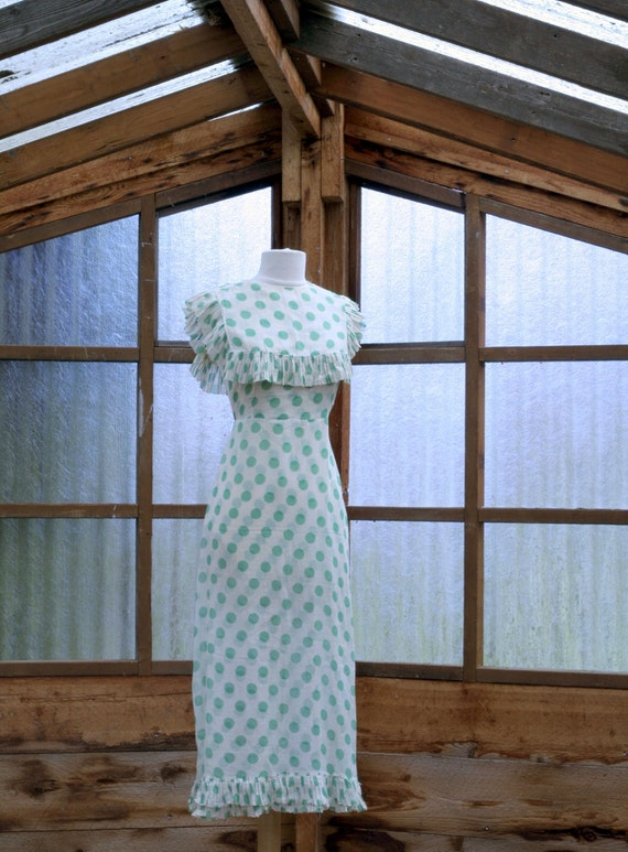 Reserved for Julie 1930's Polka Dot Dress Cotton Lawn 2pc.