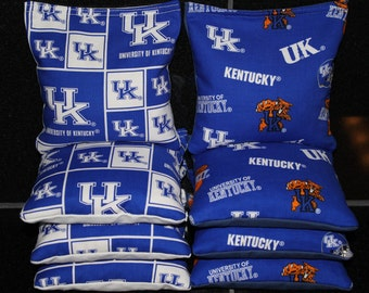 UK WILDCATS Cornhole Bean Bags University of Kentucky 8 Corn Hole Bags ACA Regulation