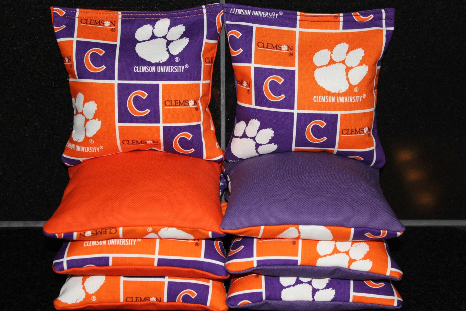 Corn Hole Bags CLEMSON University Tigers 8 Aca Regulation