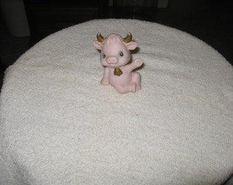 Collectible Ceramic Baby  Pig With Horns