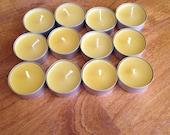 Beeswax Tea Lights Set of 12