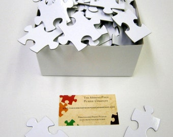 Hand Numbered White Puzzle Pieces for Wedding Guest Books NUMBERED on back.  Shhhh, our little secret