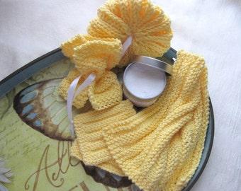 Ribbly Spa Set - PDF Knitting Pattern - Instant Download