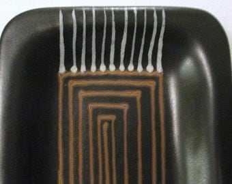 Mid Century 50 s Glidden poterie FONG CHOW AFRIKANS plateau 200 Excellent État