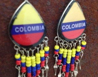 Colombia Earrings Colombian Alpaca Silver Unique Elegant Dangle