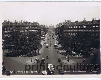 "Paris 1920, Original Silver Print Photo by Patras ""Avenue de la Opéra"", Paris 1920"