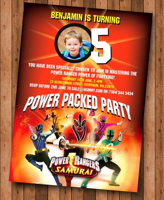 Power Rangers Birthday Party Invitations as best invitation layout