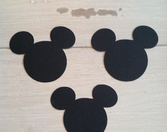 12 Mickey Mouse Chalkboard Sticker Labels