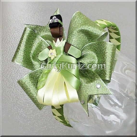 Princess Tiana Hair: Princess Tiana Headband Princess Tiana Ribbon Sculpture Hair