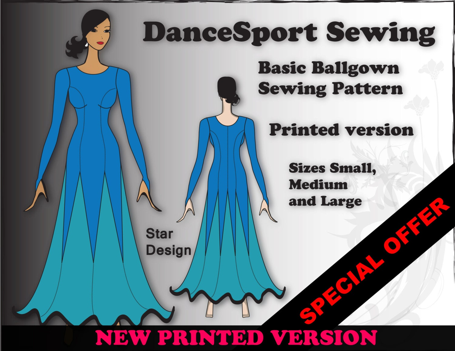 Basic ballroom gown sewing pattern printed version plus free basic ballroom gown sewing pattern printed version plus free manual jeuxipadfo Choice Image