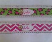 "Personalized rulers personalized 12"" chevron print ruler personalized leopard print ruler"
