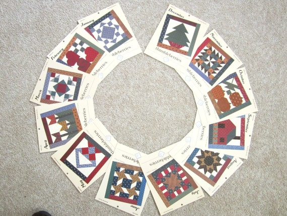 Month by Month Quilt Pattern blocks from Thimbleberriers-MBM 001 thru MBM 012 Complete Set