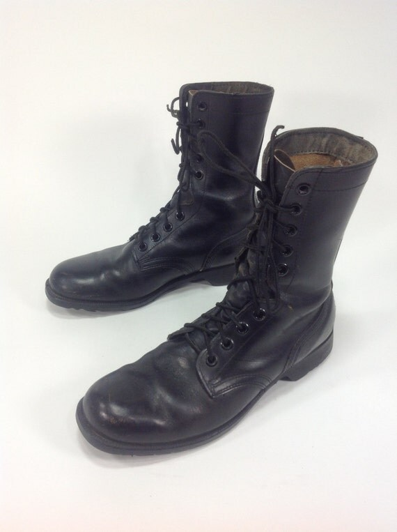 vintage black leather combat jump by objekt314 on