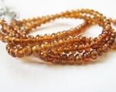 AAA Fanta Garnet Rondelles, Spessartite Rondelles, Garnet Beads, AAA, Full Strand, 2.75mm to 3.5mm, 16 inches