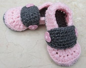 Crochet Loafers/Slippers. Infant/Toddler/Child handmade accessory.
