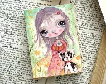 miniature woodblock..of my original artwork