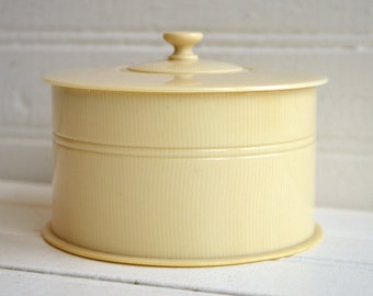1920's Vintage Celluloid French Ivory Rare Double Lid Receiver