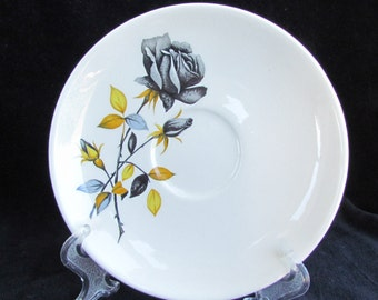 One 'Black Prince' Retro Palissy Saucer