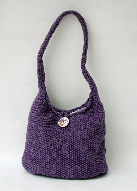 British Wool Knitting Kit - Moss Stitch Shoulder Bag