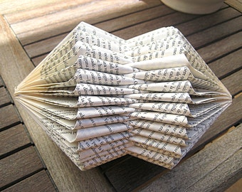 Book Sculpture - Folded Book - recycled Book - Paper Art