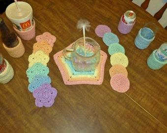 20 Piece Rainbow Coaster Set