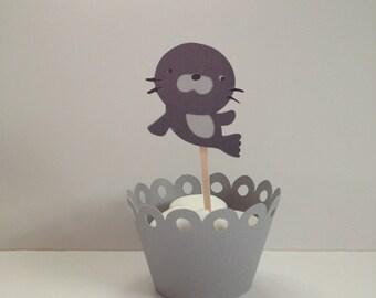 Seal Cupcake Topper...