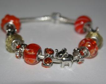 Elephant  Charm Bracelet.