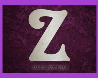 unfinished wood letter Z wood letter 6 inch tall
