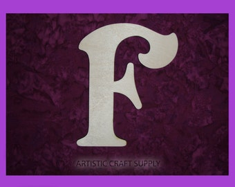Wood Letter F Unfinished Wooden Letters 6 Inch Tall