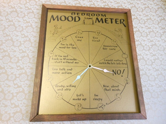 Wedding Gift Clock: FUNNY WEDDING GIFT Vintage Bedroom Mood Meter Clock Face Blue