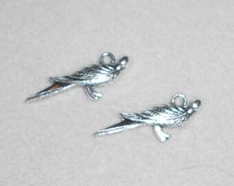 Silver Dove Bird Charms