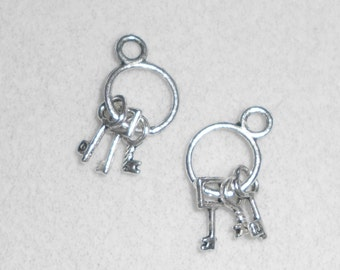 Silver Keys Charms