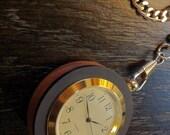 Dark and Elegant Ebony and Walnut Pocket Watch