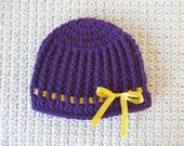 Ribbed Bow Hat 3-6 Months Ready To Ship