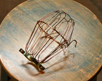 Brass Wire Bulb Cage, Clamp On Lamp Guard, For Vintage Trouble Lights - Top Quality Supplies For Your Handmade Lighting, Lamps, Pendants etc