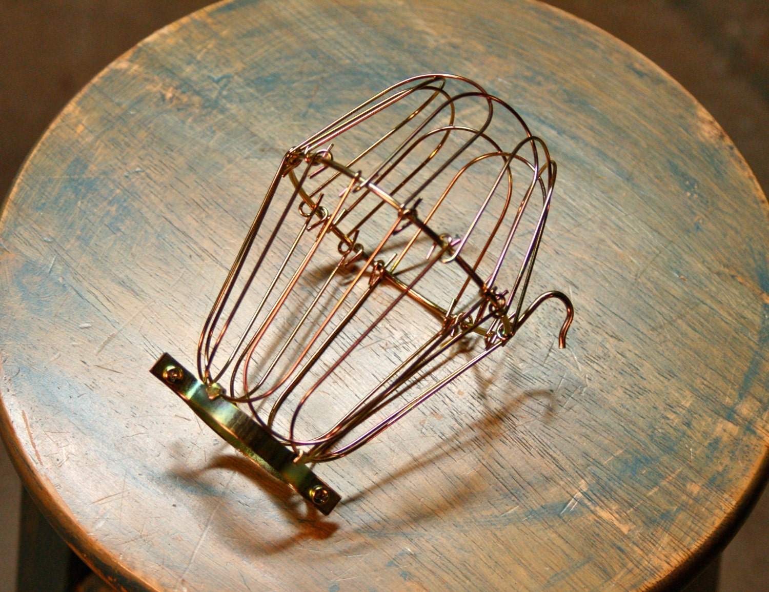 brass wire bulb cage clamp on lamp guard for vintage trouble. Black Bedroom Furniture Sets. Home Design Ideas
