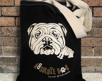 Bulldog Tote Bag, Sturdy 12 oz 100% Canvas Tote