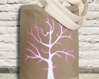 Winter Tree Tote Bag, Sturdy 12 oz 100% Canvas Tote