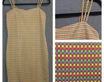 Vintage BodyCon Dress Triple Spaghetti Straps