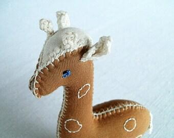 Soft toy Giraffe, Waldorf  toy, baby safe organic cotton
