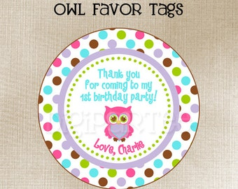 Owl Favor Tags